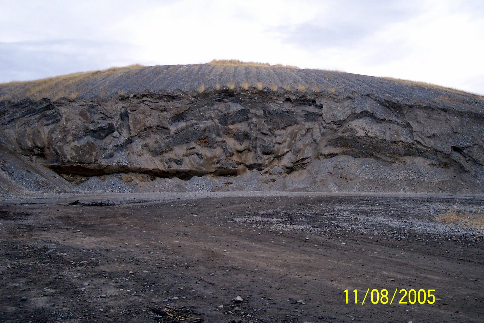 WELLSVILLE CITY'S BASIN HILL GRAVEL PIT. THE SOURCE OF THE PIT RUN GRAVEL.
