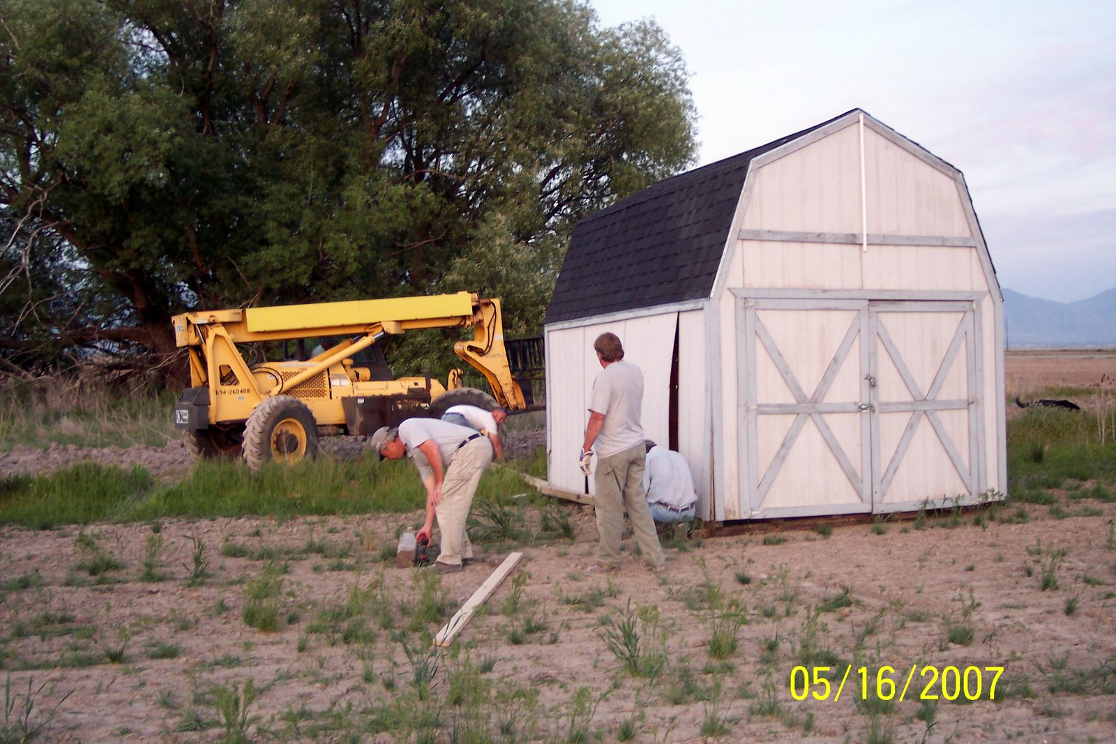 NEW LOCATION FOR SHED ALONG EAST PROPERTY LINE.