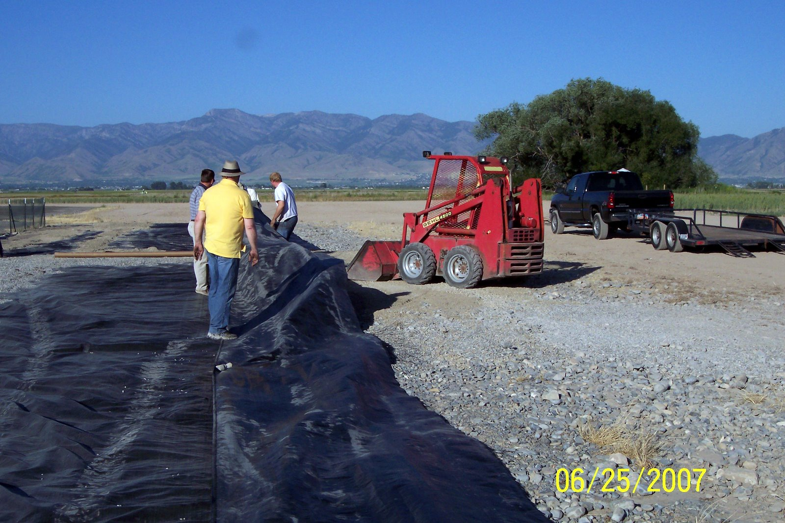 THE WINDY CONDITIONS MADE FOR SPECIAL CHALLENGES DURING THE PROJECT.