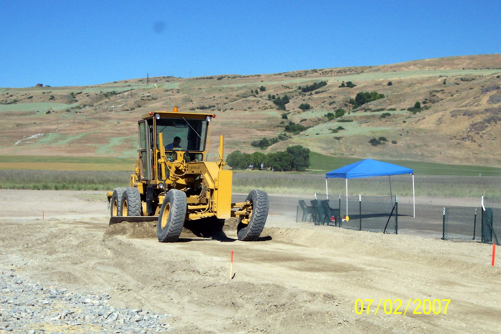 GRADING THE PITTING AREA.