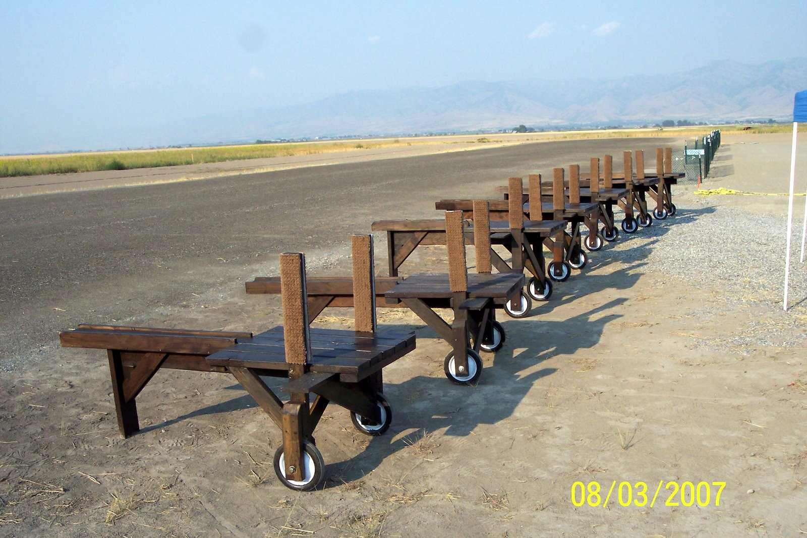 FIELD SAFETY BENCHES WERE DONATED AND CONSTRUCTED BY BOB ECKERT, GENE HAYCOCK, RICK JENSEN,RICHARD WILLIAMS, DICK NELSEN, DEWAYNE MERRITT AND JERRY COKELY.