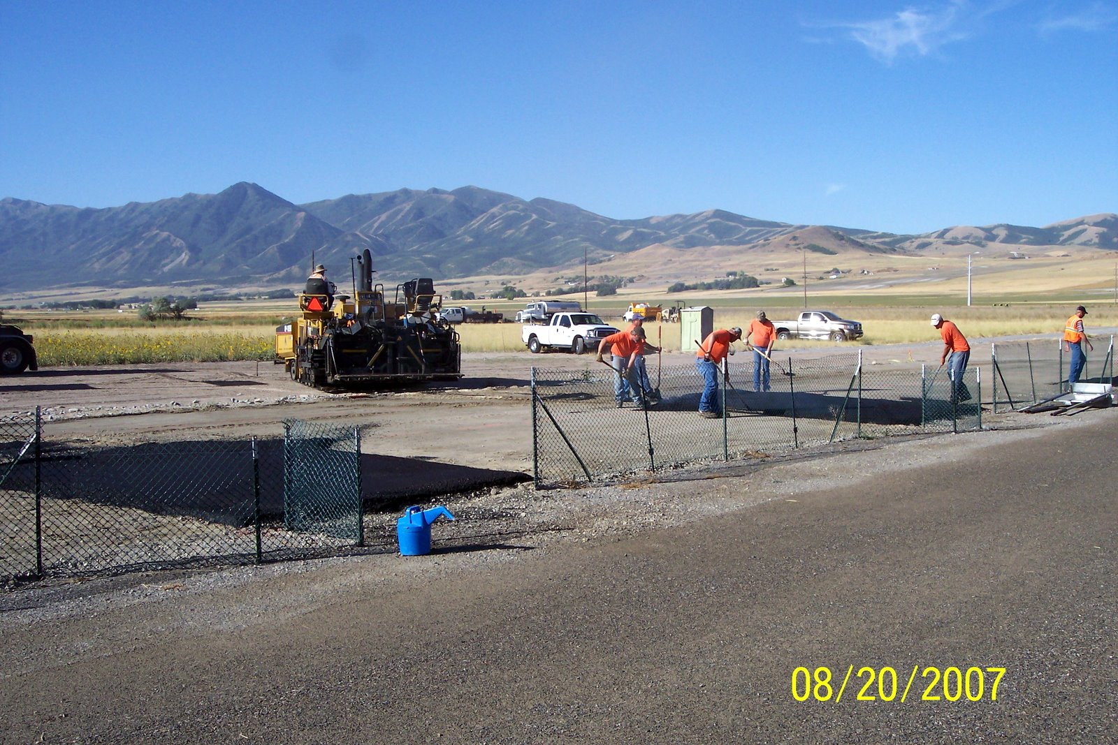 THE TAXIWAYS ARE COMPLETED FIRST.