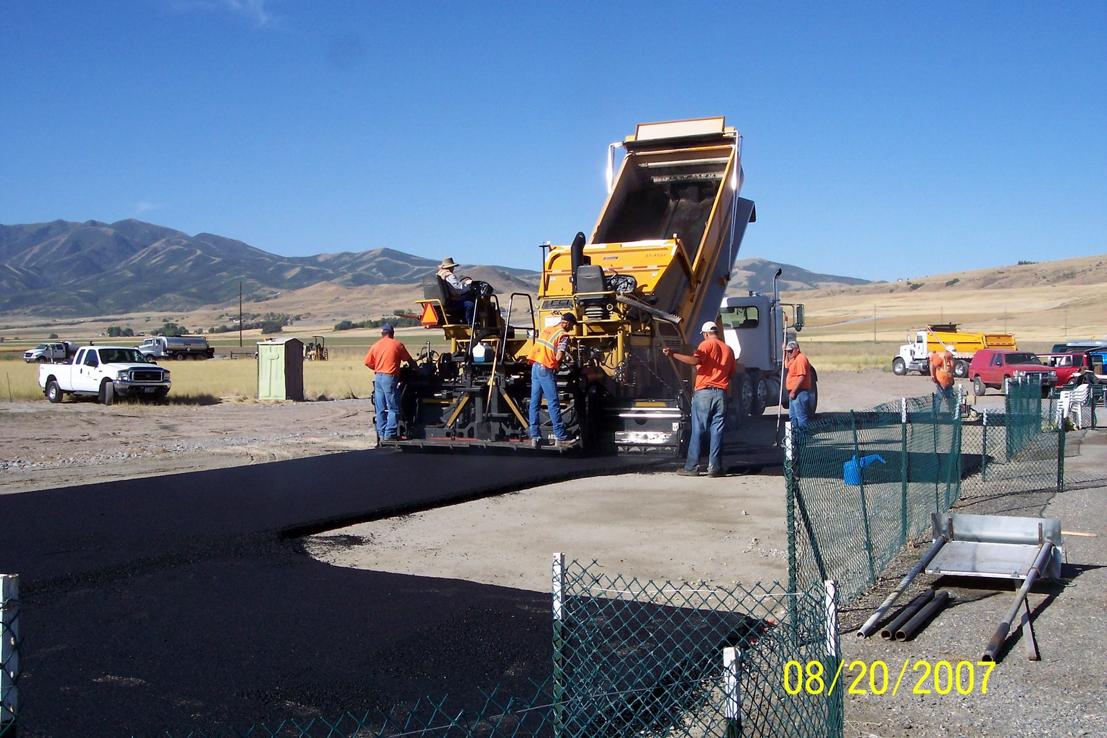 THE PITTING AREA GETS PAVED.