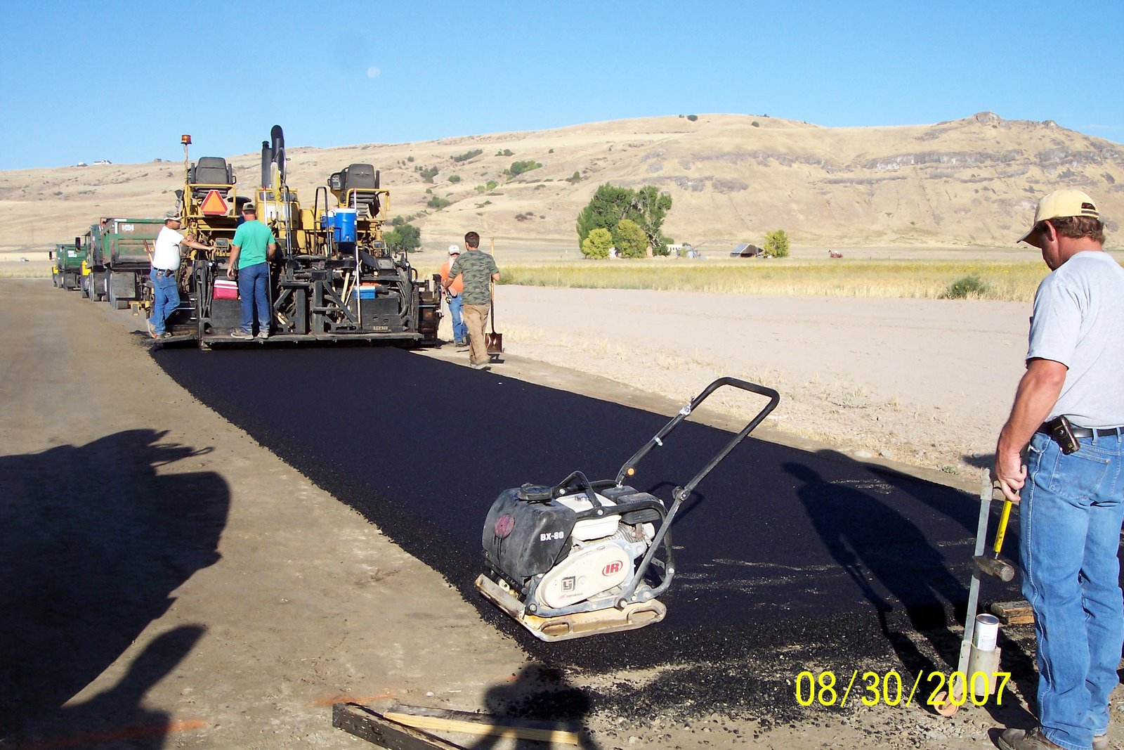 1st section of asphalt