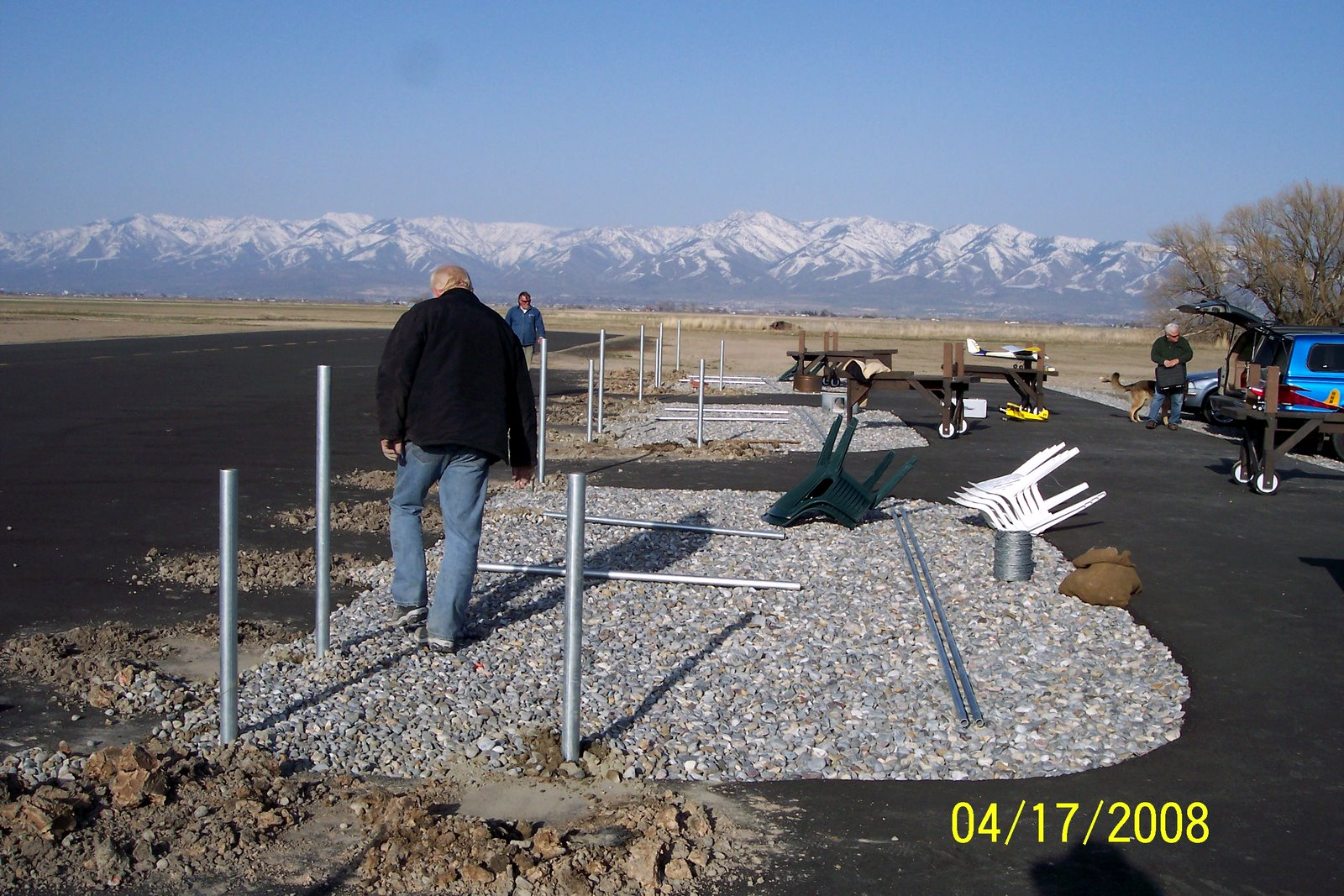 OVERALL VIEW OF THE SAFETY FENCE PROJECT.
