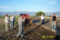 TAPERING EDGES ALONG NORTH EDGE OF RUNWAY. SCOTT JENSEN,RICK JENSEN, MARC KARPOWICH, VERN SMITH, NATE FRIEDLI, WINSTON REESE