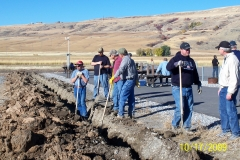 ALL THE WORKERS ON THE PARKING AREA DRAIN PROJECT.