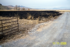 FORMER C.R.P. 10 ACRE PIECE BURNED OFF.......FUTURE ALFALFA/WHEAT/SAFFLOWER FIELD.