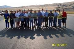 RIBBON CUTTING CEREMONY FOR THE BRCC RUNWAY.